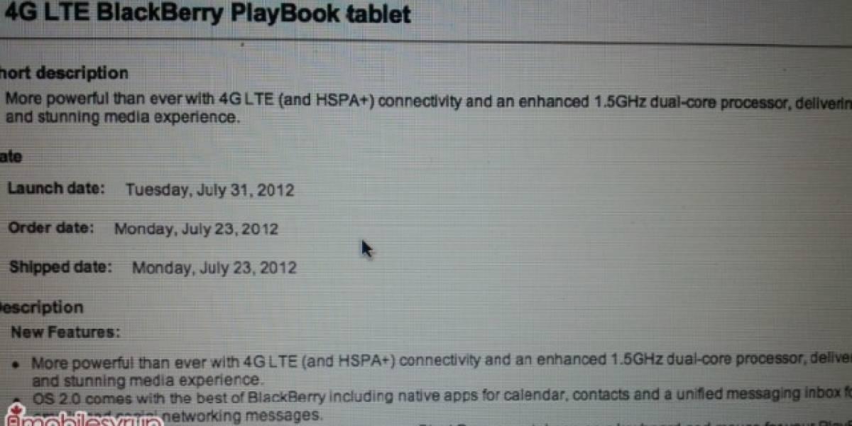El PlayBook 4G podría estar más cerca de lo que pensábamos