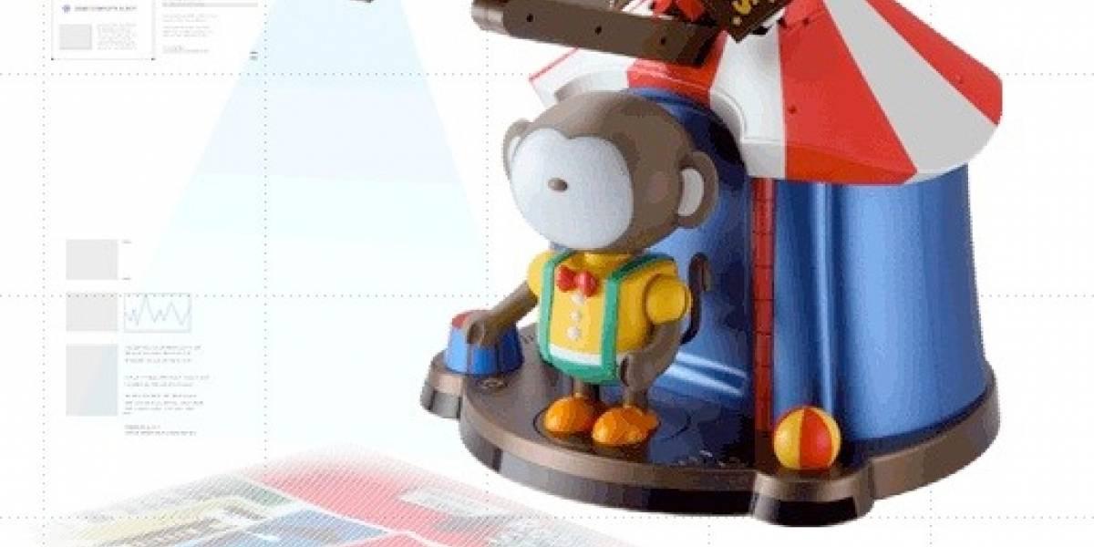 Robii: un robot para niños con un proyector multi-touch integrado