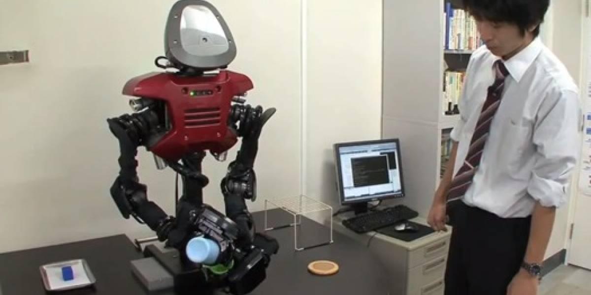 Crean un robot que puede inventar cómo completar una tarea