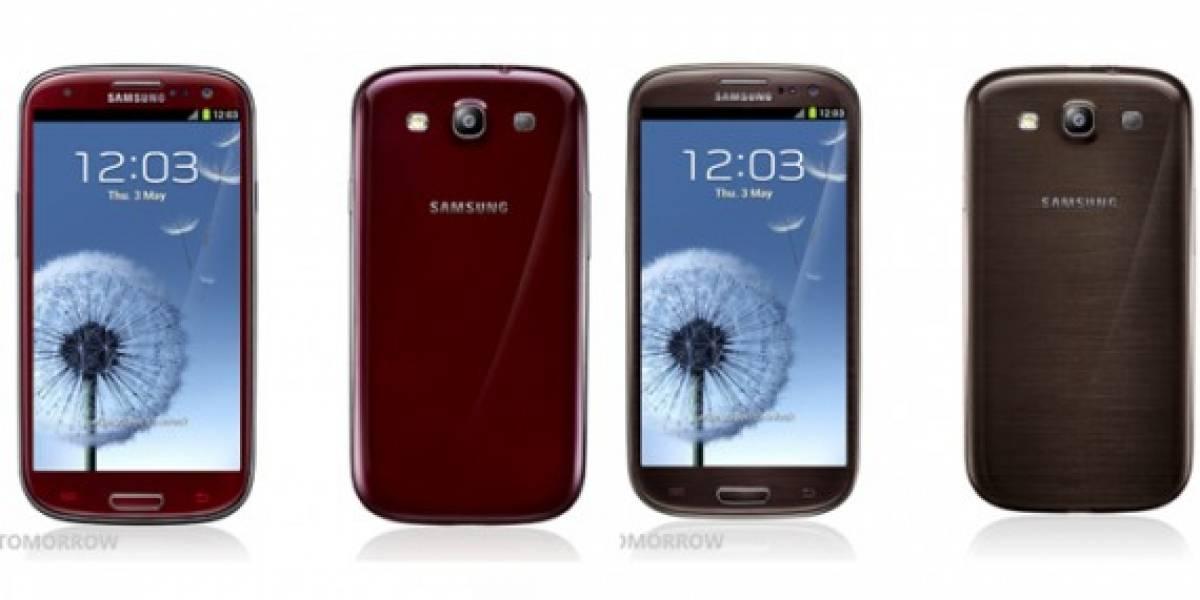 Samsung agrega cuatro nuevos colores al Galaxy S III