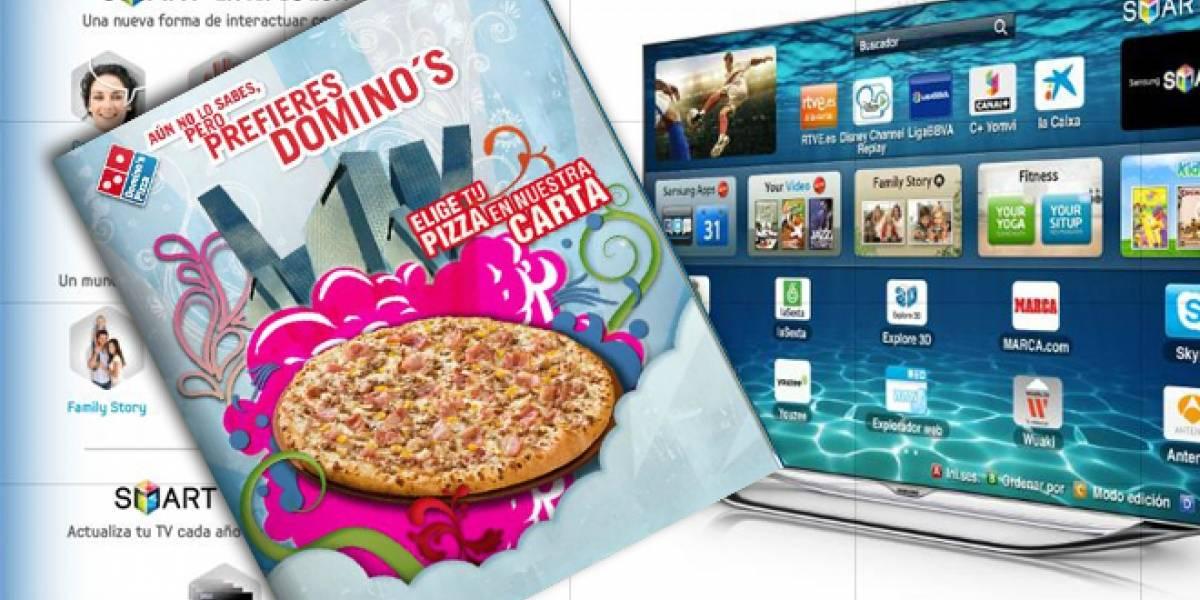 En España ya se pueden pedir pizzas desde la televisión