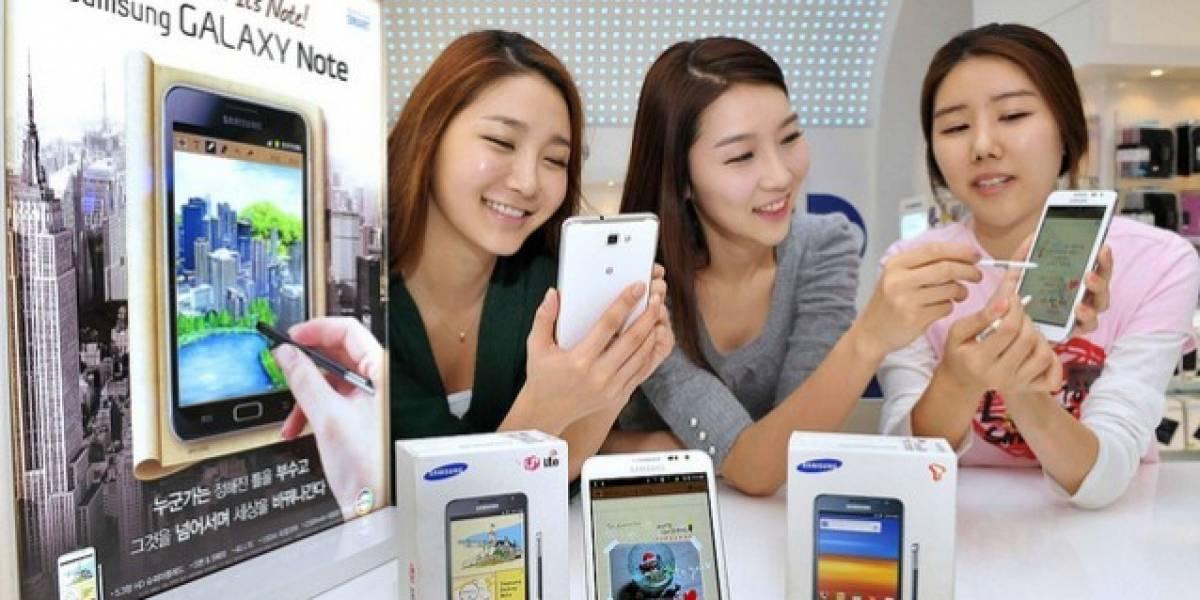 Samsung anuncia que vendió 5 millones de unidades del Galaxy Note