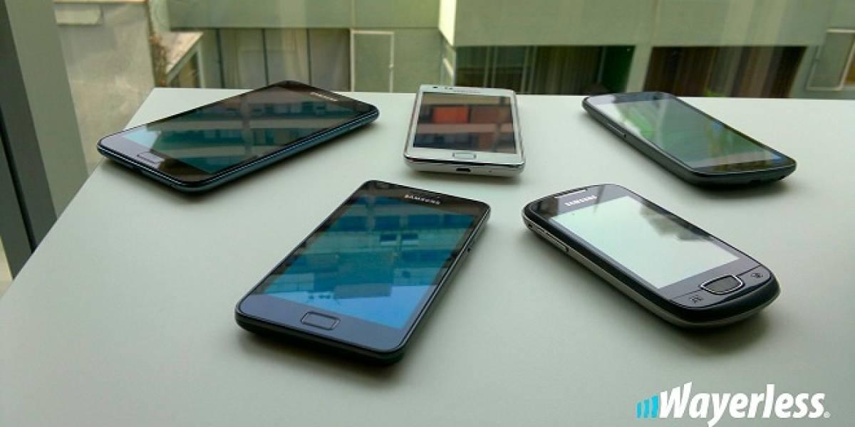 Samsung registra cuatro nuevos teléfonos Galaxy