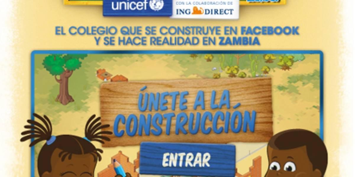UNICEF España construirá una escuela con dinero recaudado en juego de Facebook