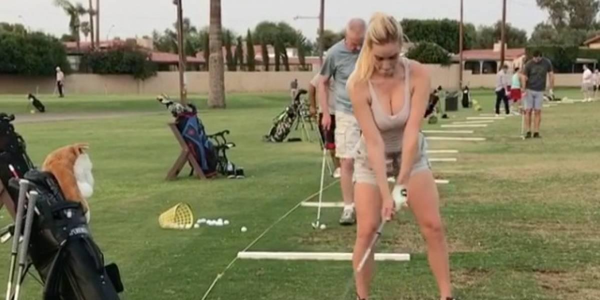 La golfista más sexy del mundo, otra vez envuelta en la polémica