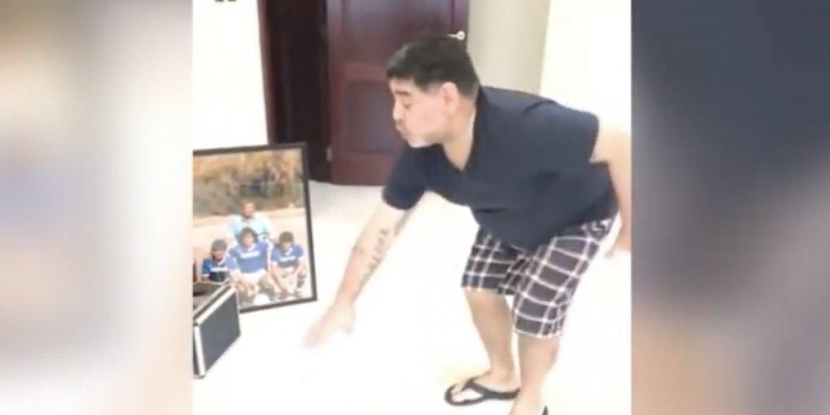 VIDEO: Maradona baila a ritmo de la cumbia