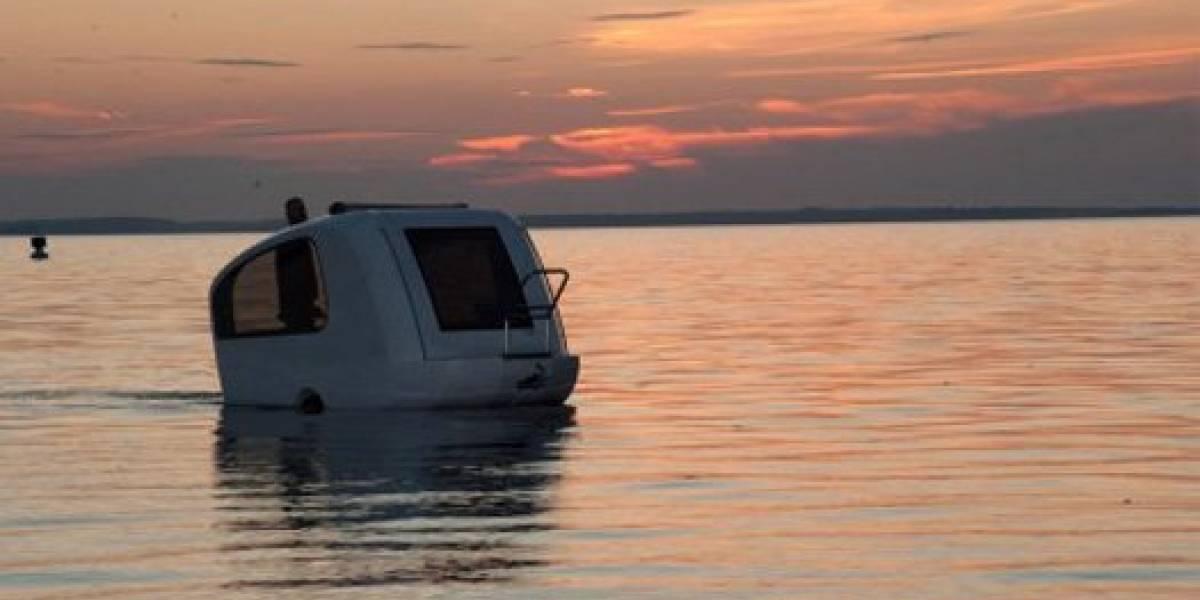 Con esta caravana anfibio se podrá viajar por tierra y agua