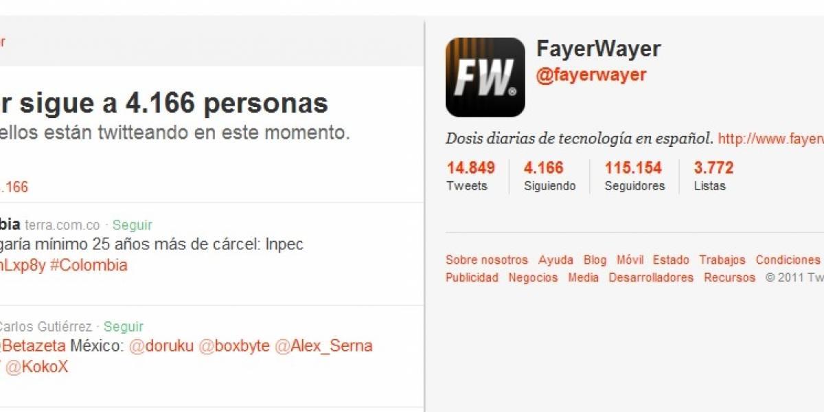 """Twitter cambia (para bien) la página de los """"seguidos"""""""
