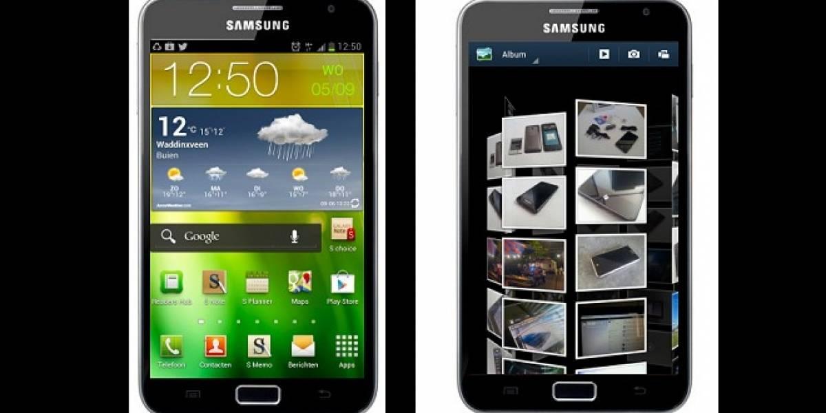 Nueva actualización para el Samsung Galaxy Note integra nueva galería e interfaz