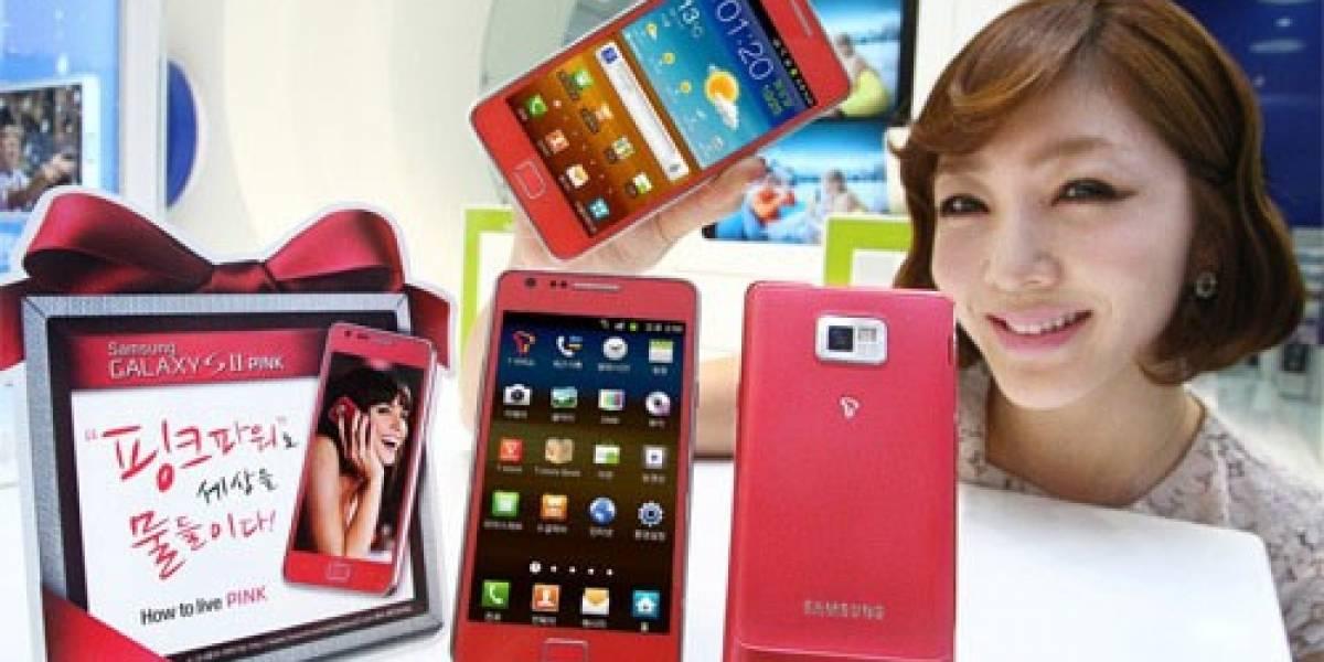 Samsung presentó el Galaxy S II rosado