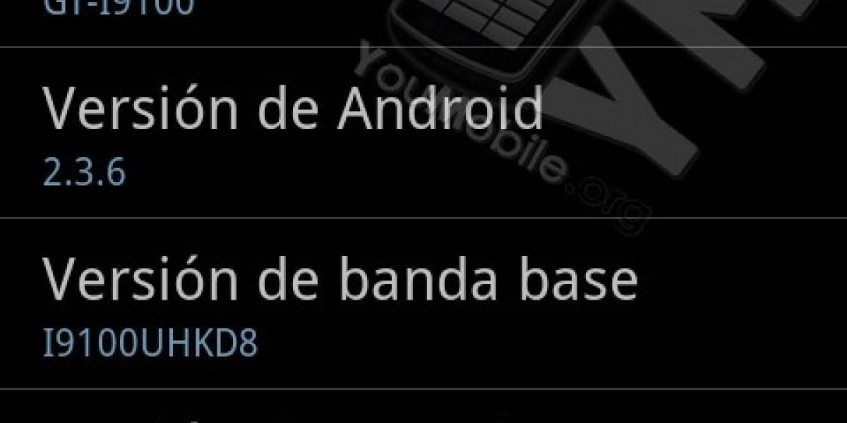 El Samsung Galaxy S II se actualiza a Android 2.3.6