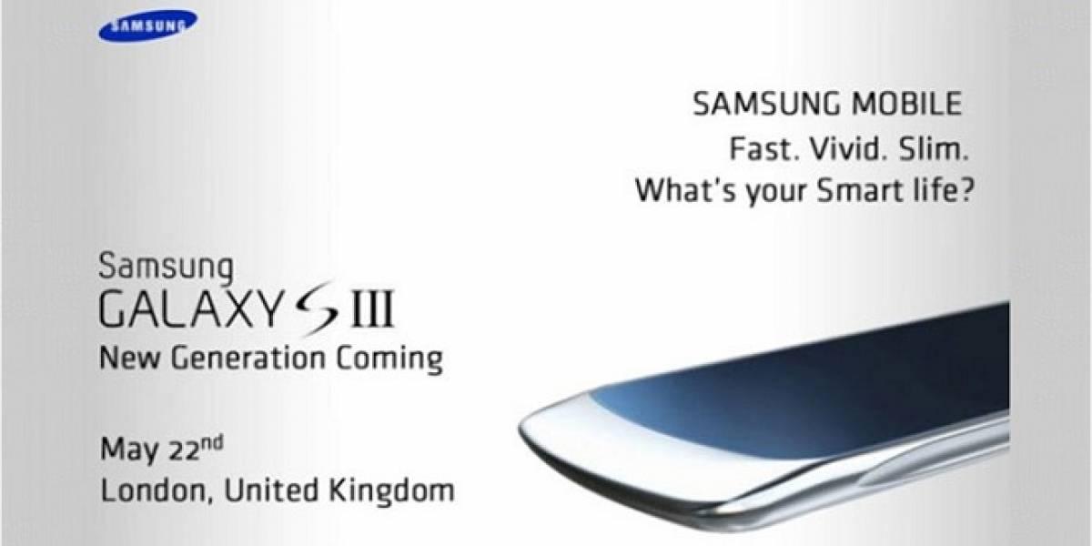 Una supuesta invitación de prensa filtrada revela una imagen del Samsung Galaxy SIII