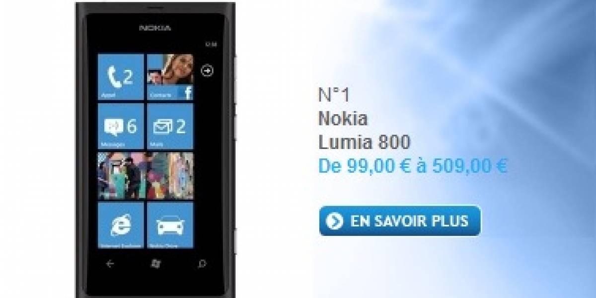 Nokia Lumia 800 lidera la lista de los teléfonos móviles más vendidos en PhoneHouse.fr