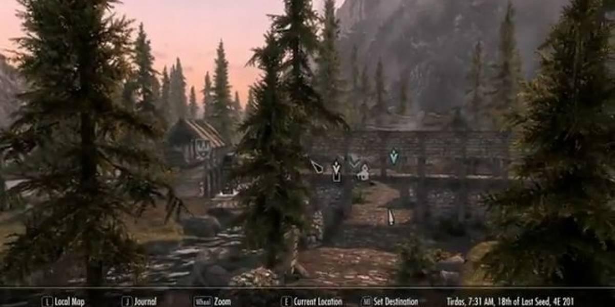 Skyrim tiene un mod para usar su mapa como en Google Street View