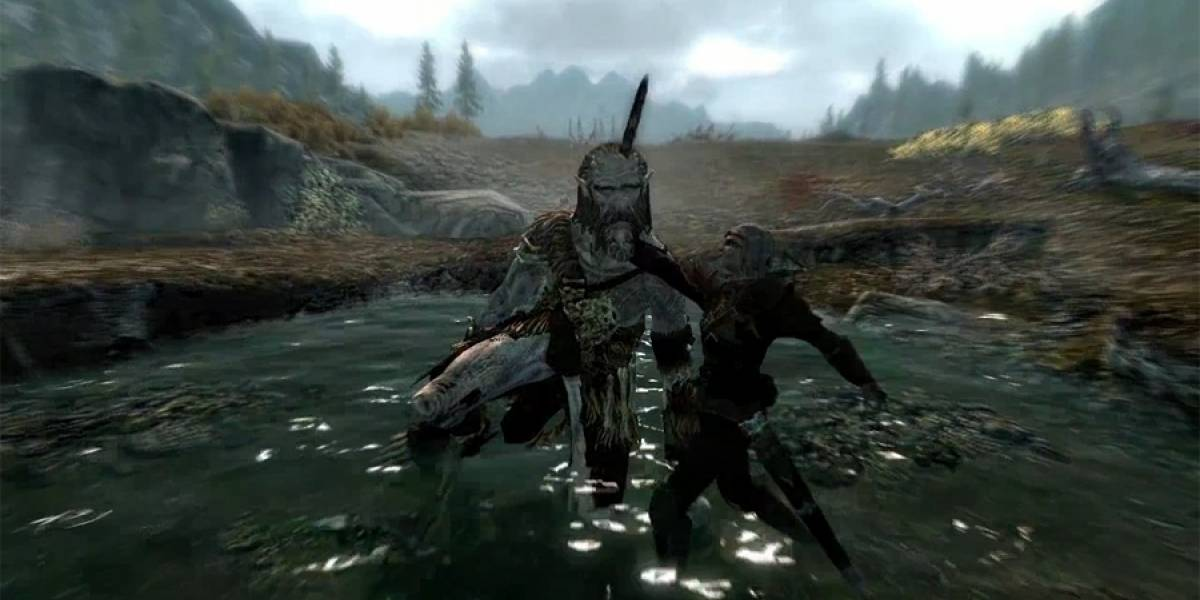 Así lucen las animaciones del combate y los hechizos en Skyrim