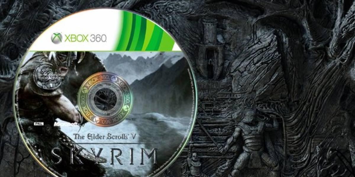 Skyrim en un disco para Xbox 360