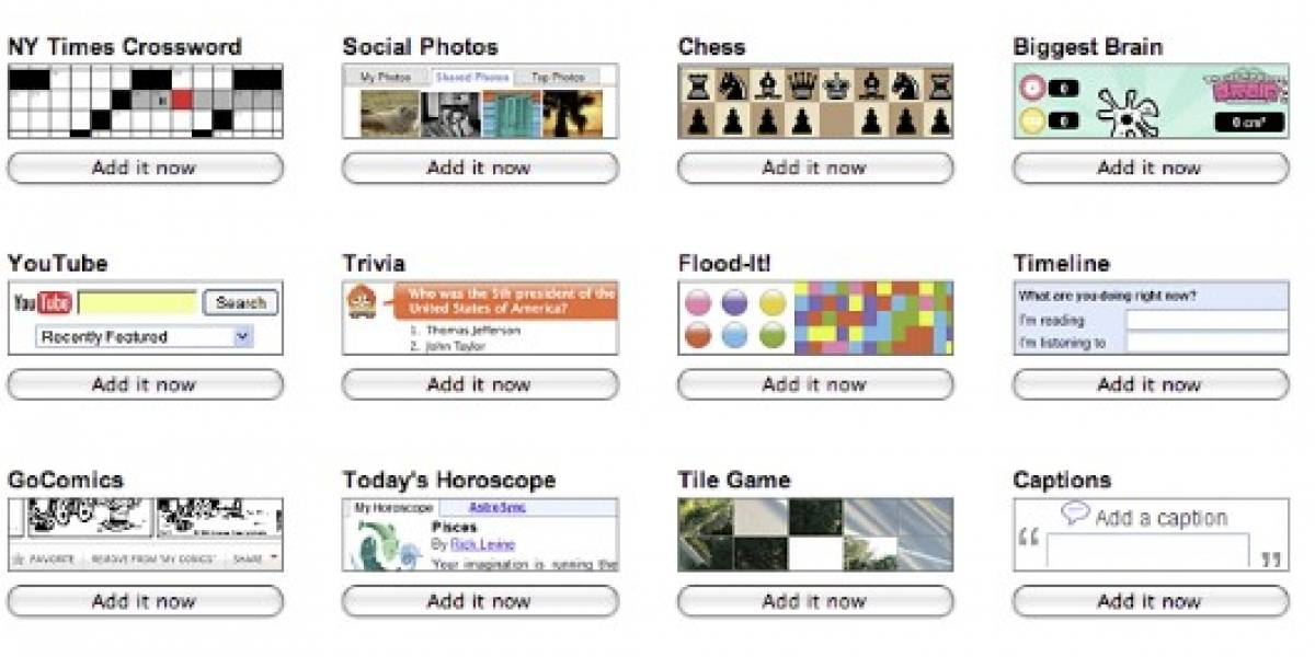 Gadgets sociales para iGoogle