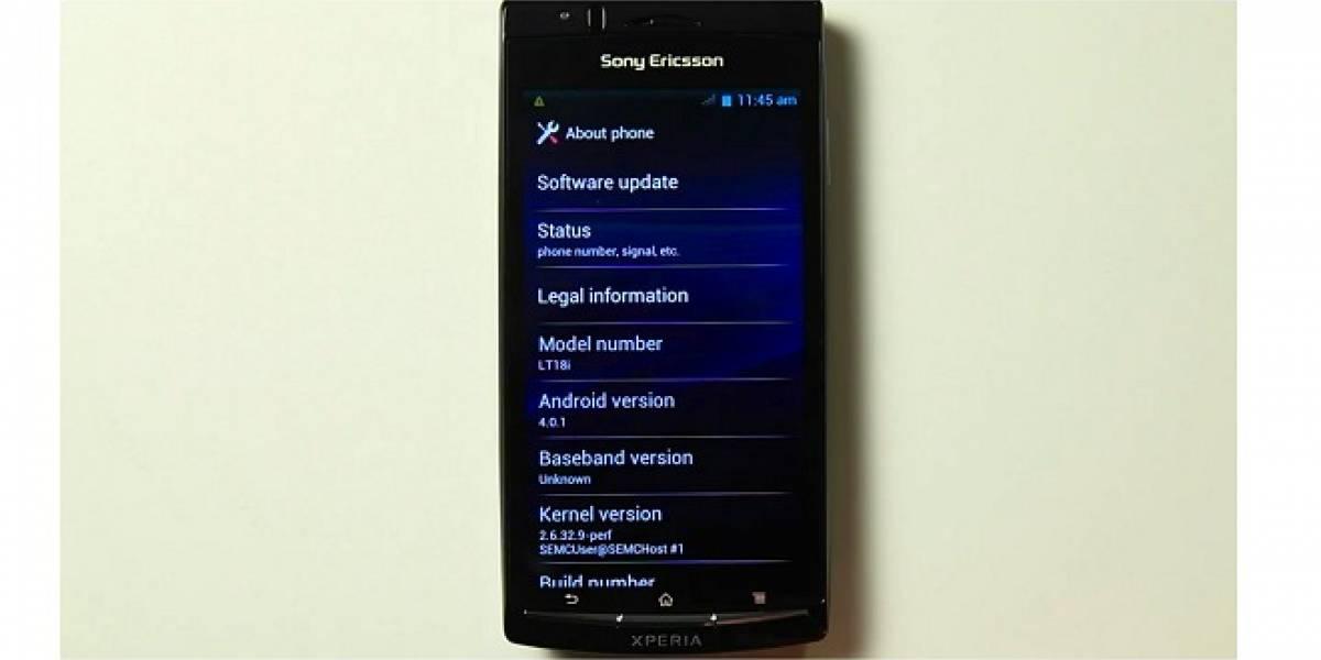 Sony Ericsson muestra una ROM Alfa de Android 4.0 para su línea Xperia