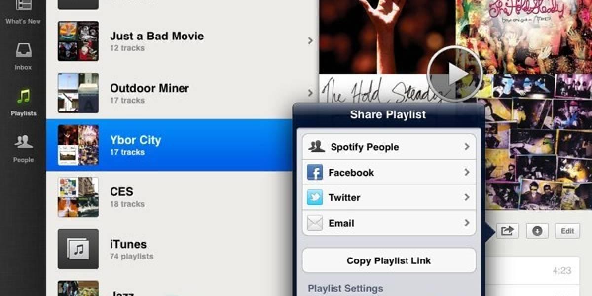 Spotify lanza su servicio para iPads