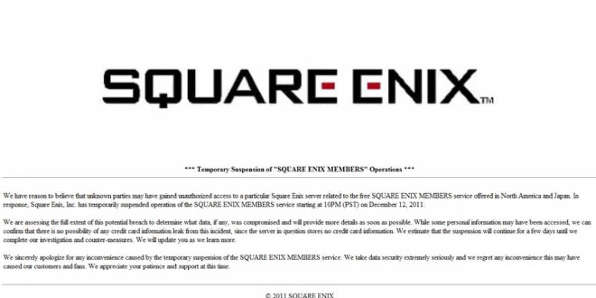 Atacan a Square Enix dejando a 1.8 millones de cuentas comprometidas