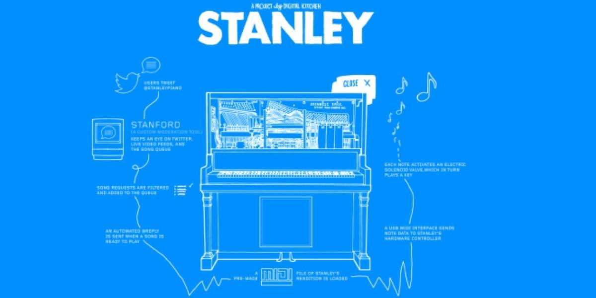 Stanley, un piano que acepta peticiones de canciones vía Twitter
