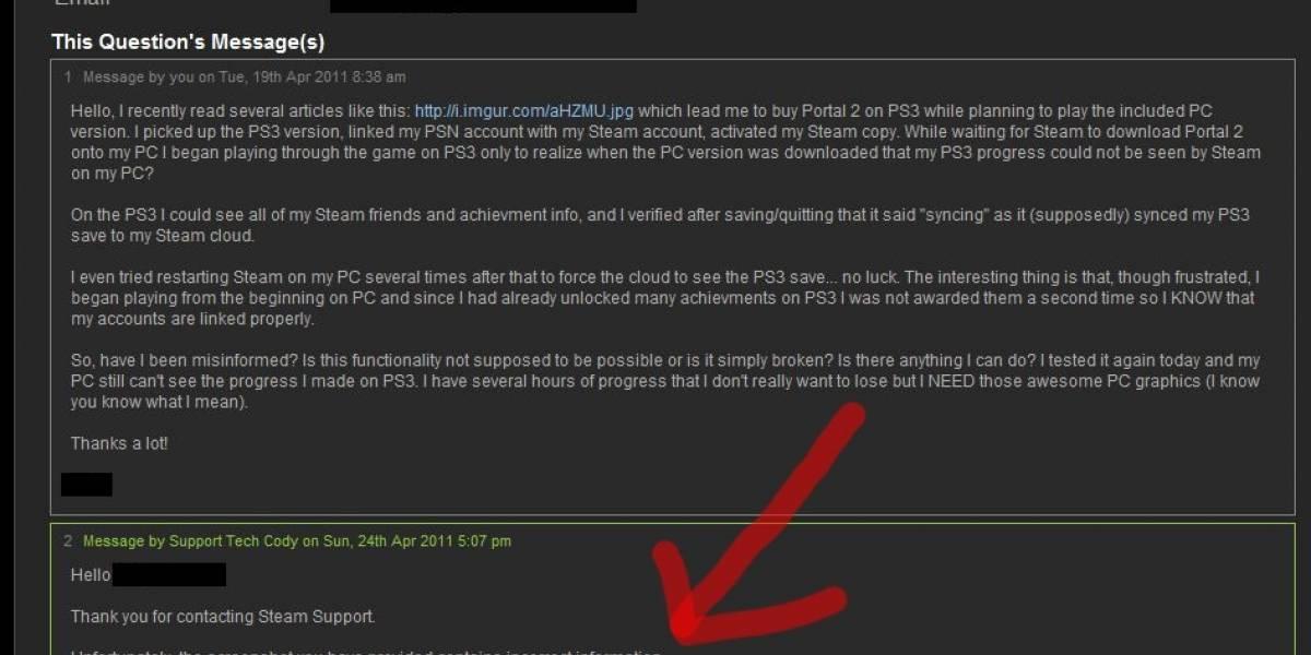 Portal 2 no comparte saves entre las versiones de PS3 y PC