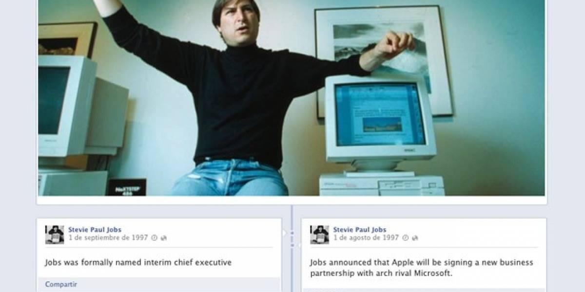 La vida de Steve Jobs en la Timeline de Facebook