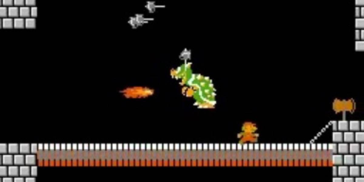 ¿Podrías terminar Super Mario Bros sumando sólo 600 puntos? (Video)