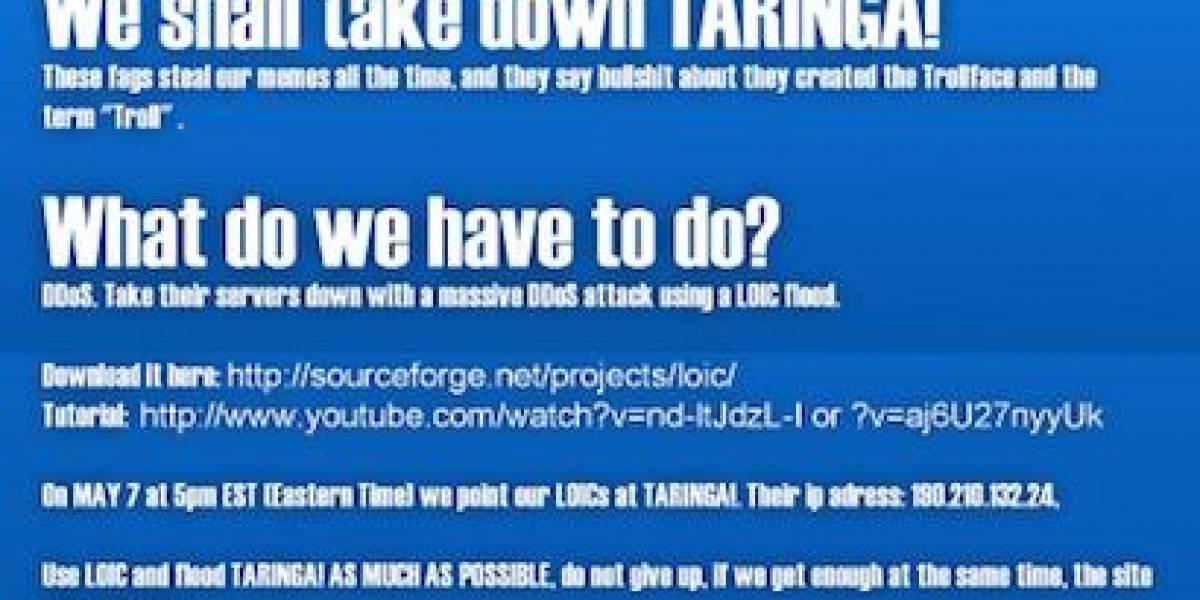 El falso ataque de 4chan a Taringa por robarle sus memes