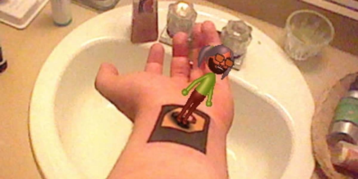 Genio se tatuó una tarjeta de realidad aumentada de 3DS en el brazo