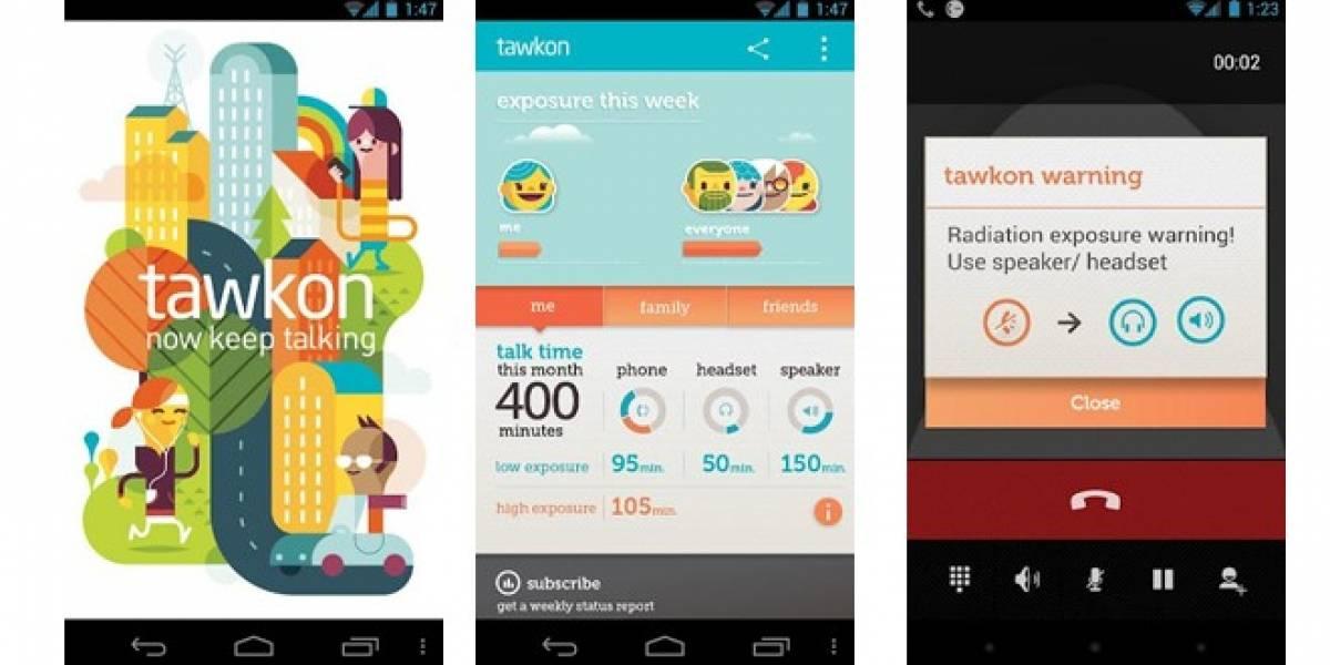 Tawkon es una aplicación para Android que mide la radiación de tu smartphone