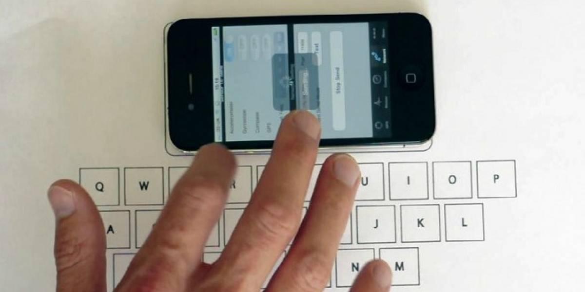 Un estudiante crea un teclado virtual para iPhone usando sólo el acelerómetro