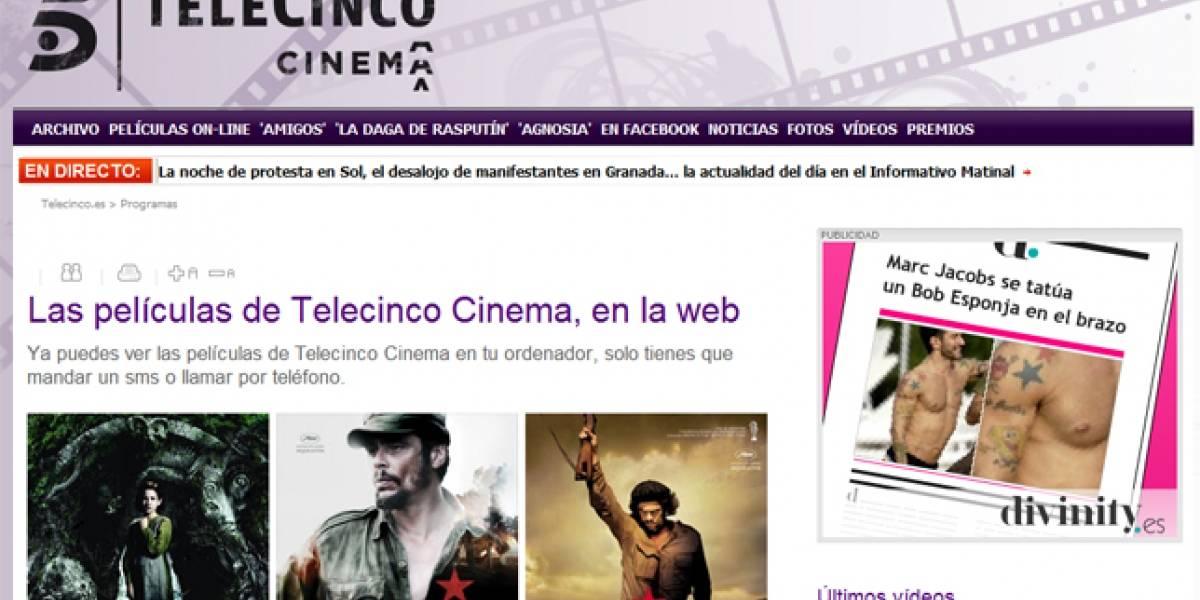 España: Telecinco estrena videoclub por Internet