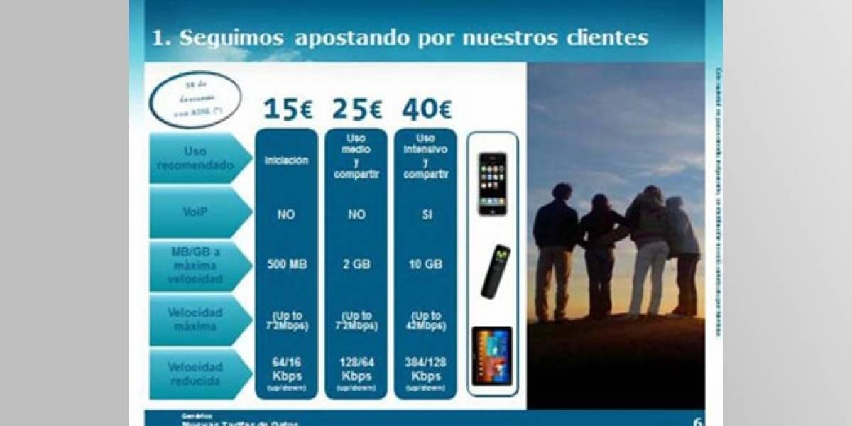 España: Telefónica simplifica las Tarifas Internet Móvil a tres opciones