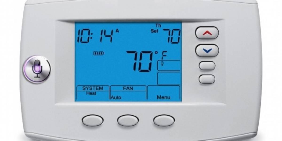 Siri controlando la temperatura de un termostato