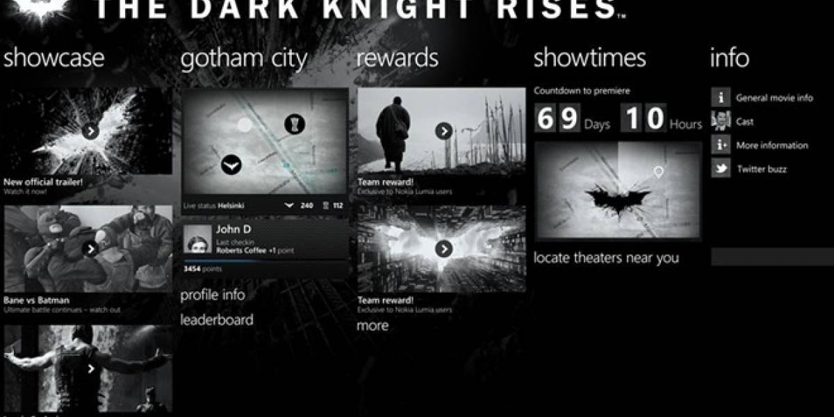 El Caballero Oscuro, nueva aplicación solo para los Nokia Lumia