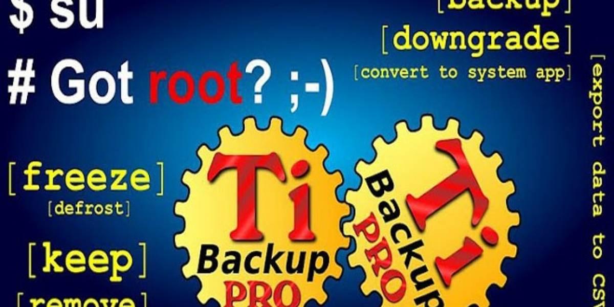 Titanium Backup: La primera aplicación de cualquier usuario Root