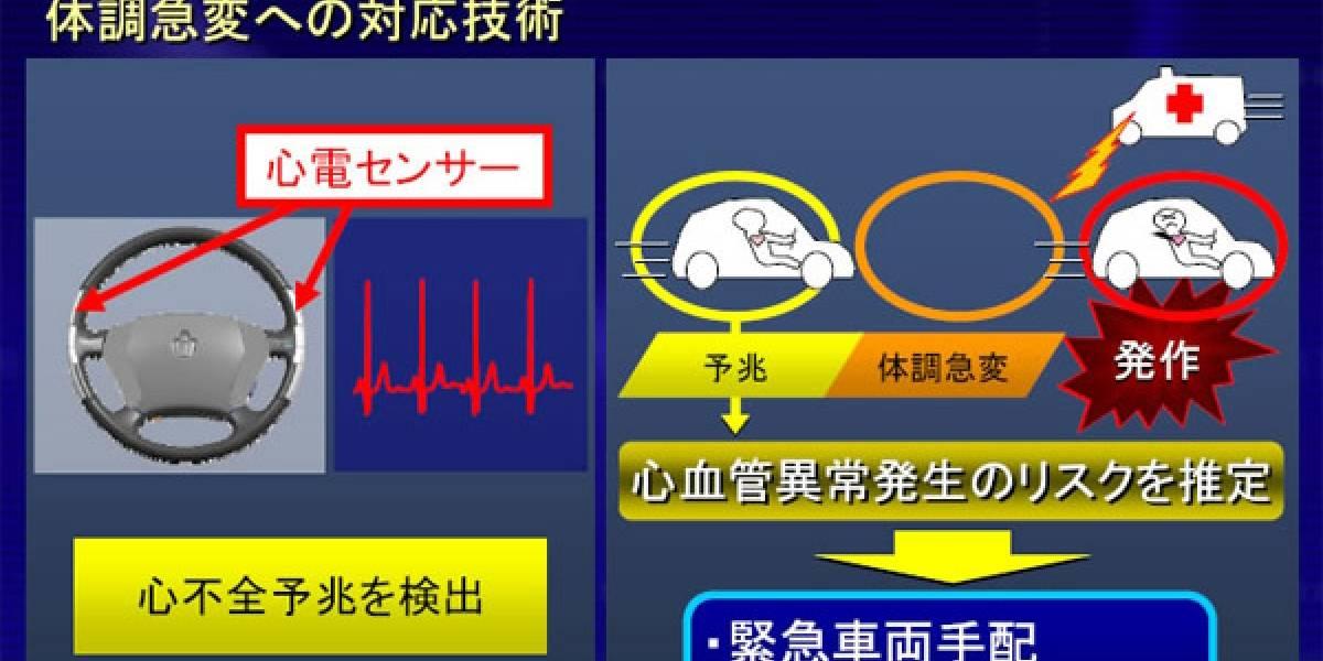 Nuevo volante de Toyota te avisará si estás por tener un ataque cardíaco