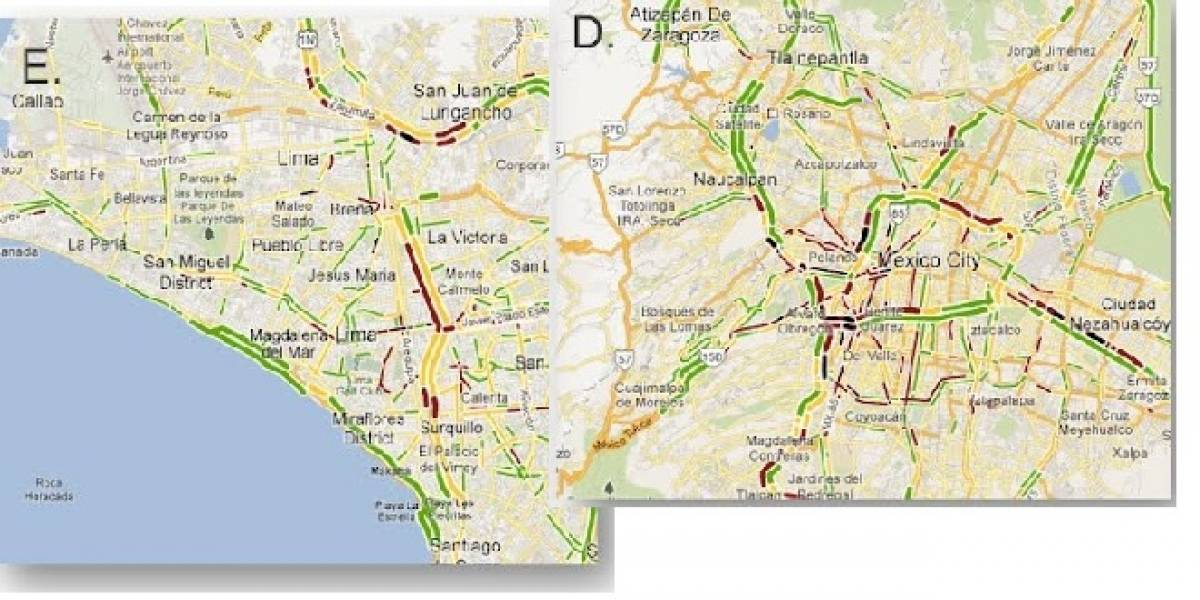 Google Maps agrega una capa de condiciones de tránsito en Perú y México