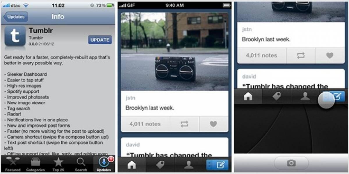 Interesantes mejoras en nueva actualización de Tumblr para iOS