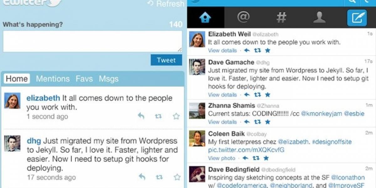 Twitter remodela su web móvil para llegar a más dispositivos