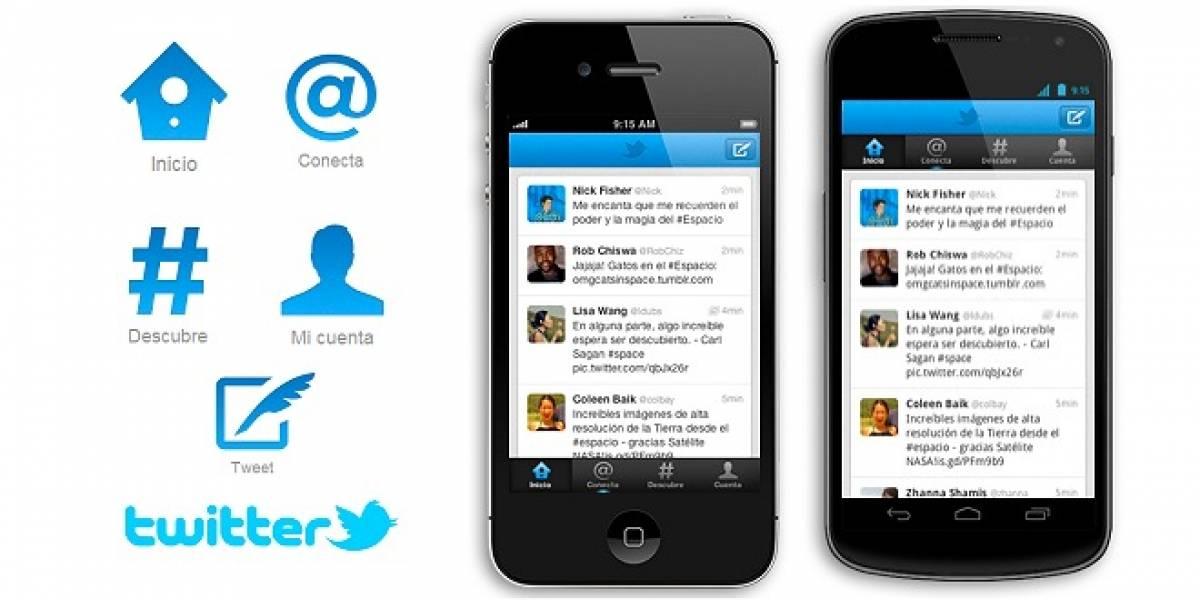 Twitter para iPhone y Android se actualiza con un nuevo diseño