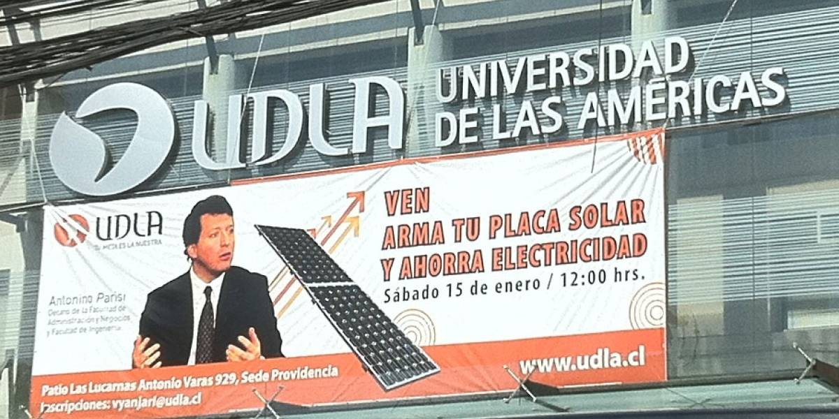 Chile: Universidad de las Américas enseñará mañana a hacer paneles solares