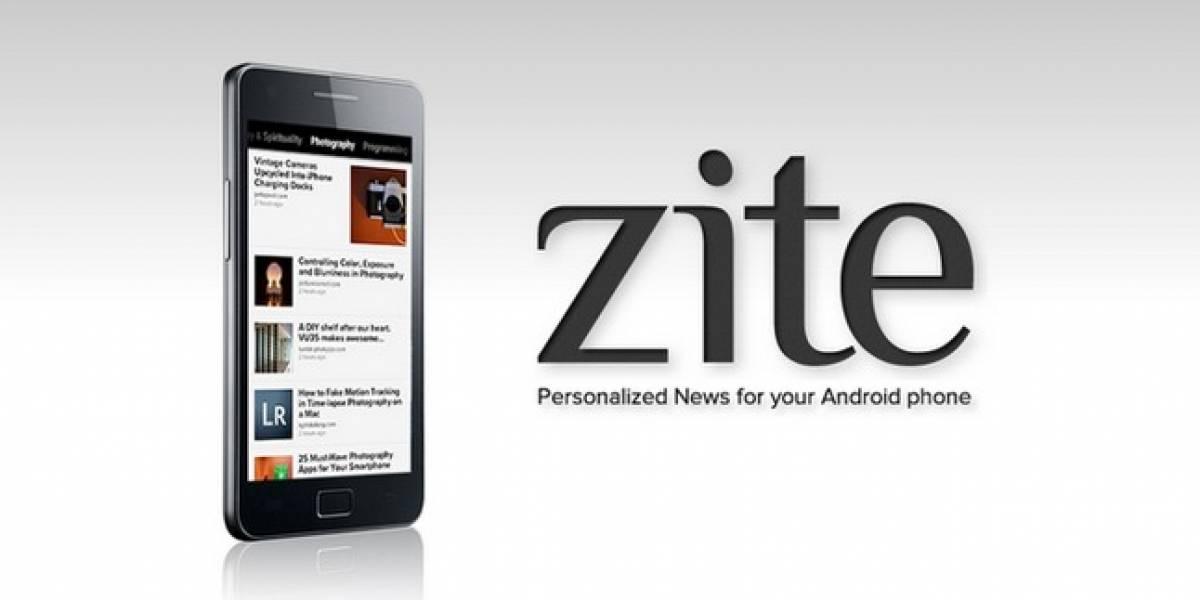 Zite, la app de personalización de noticias, ya está para Android