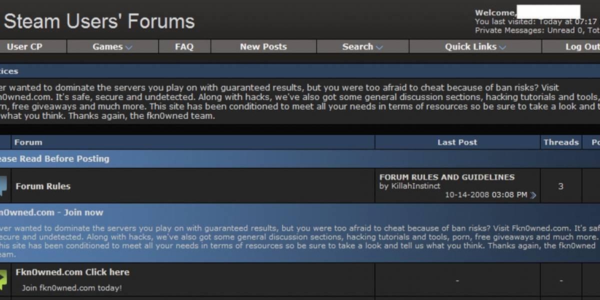 Se reporta que los foros de Steam están offline por supuesto hackeo