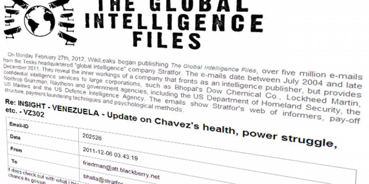 WikiLeaks filtra información sobre la salud de Chávez tras extensa publicación de e-mails