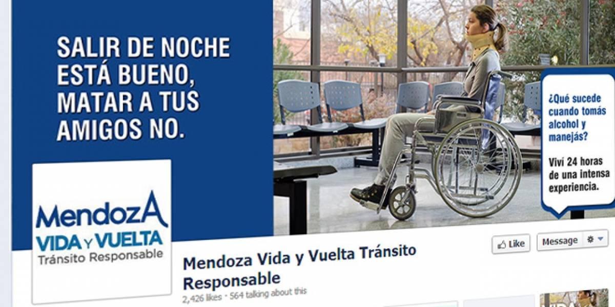 Argentina: Campaña contra manejar y beber alcohol te mata en Facebook