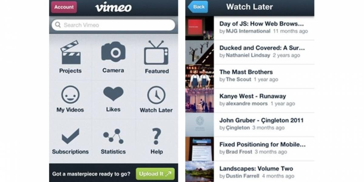 MWC12: Vimeo lanza nueva app para iOS