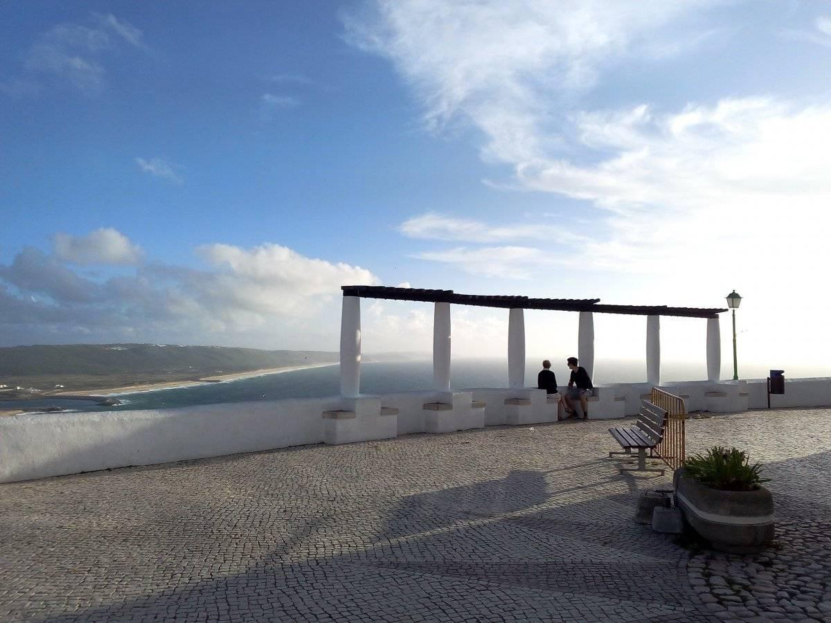 Vista do principal mirante de Nazaré