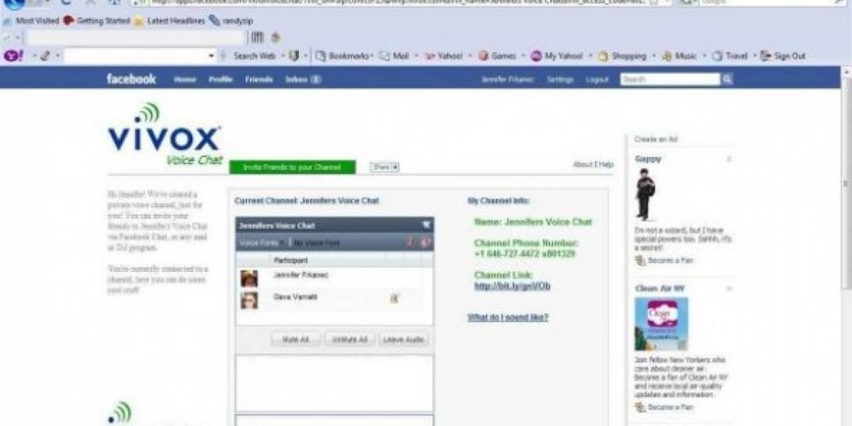 Facebook tendrá chat por voz muy pronto
